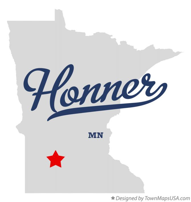 Map of Honner Minnesota MN