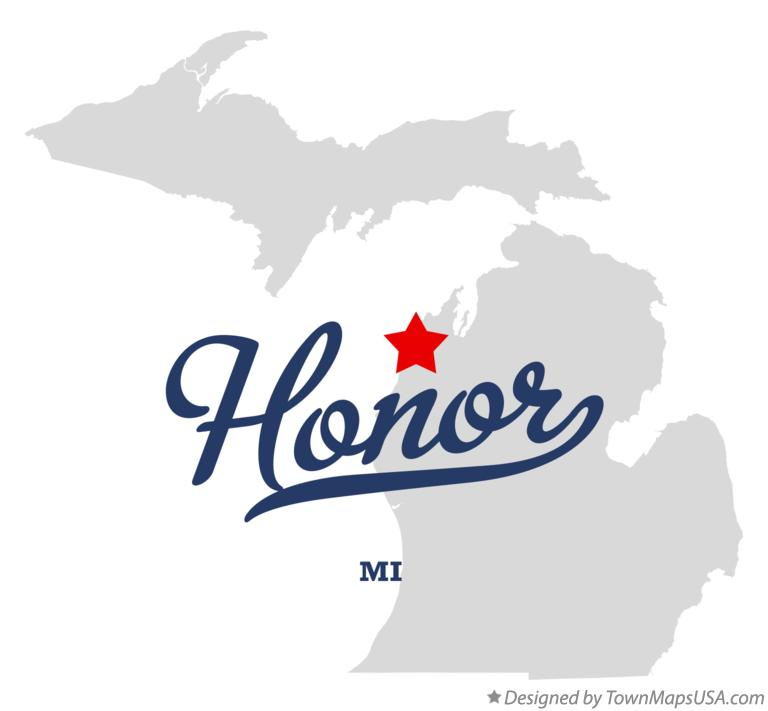 Map of Honor Michigan MI