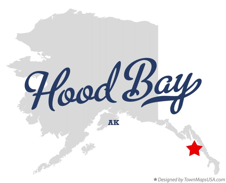 Map of Hood Bay Alaska AK