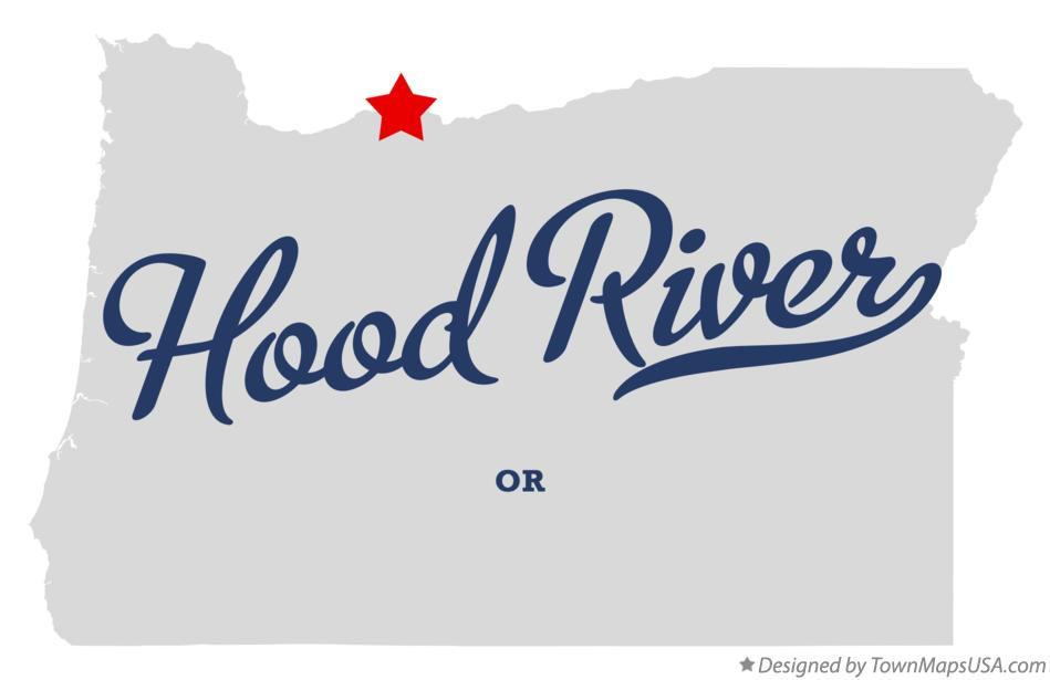 Map of Hood River Oregon OR