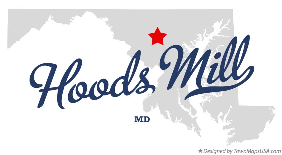 Map of Hoods Mill Maryland MD
