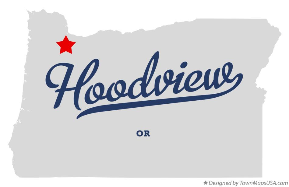 Map of Hoodview Oregon OR