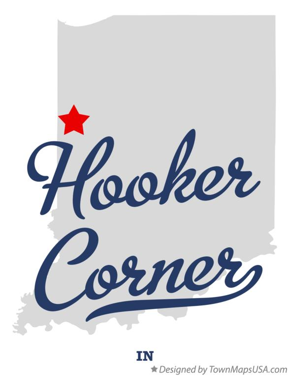 Map of Hooker Corner Indiana IN