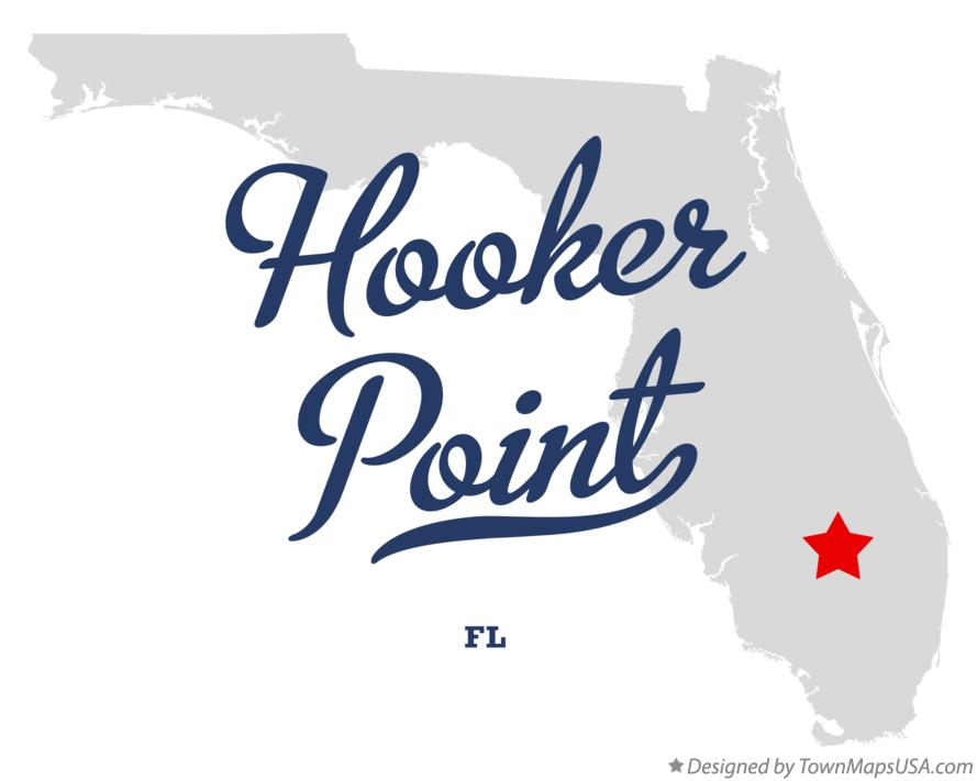 Map of Hooker Point Florida FL