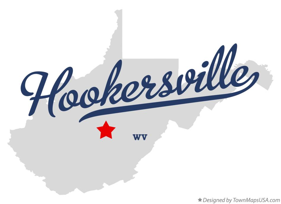 Map of Hookersville West Virginia WV