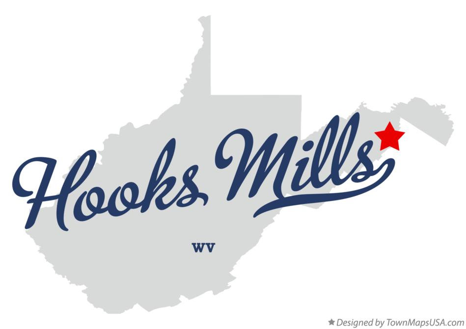 Map of Hooks Mills West Virginia WV