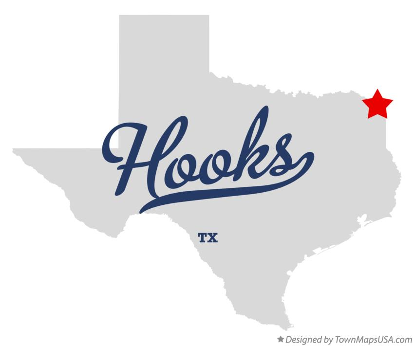 Map of Hooks Texas TX