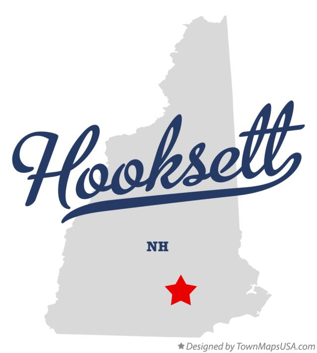 Map of Hooksett New Hampshire NH