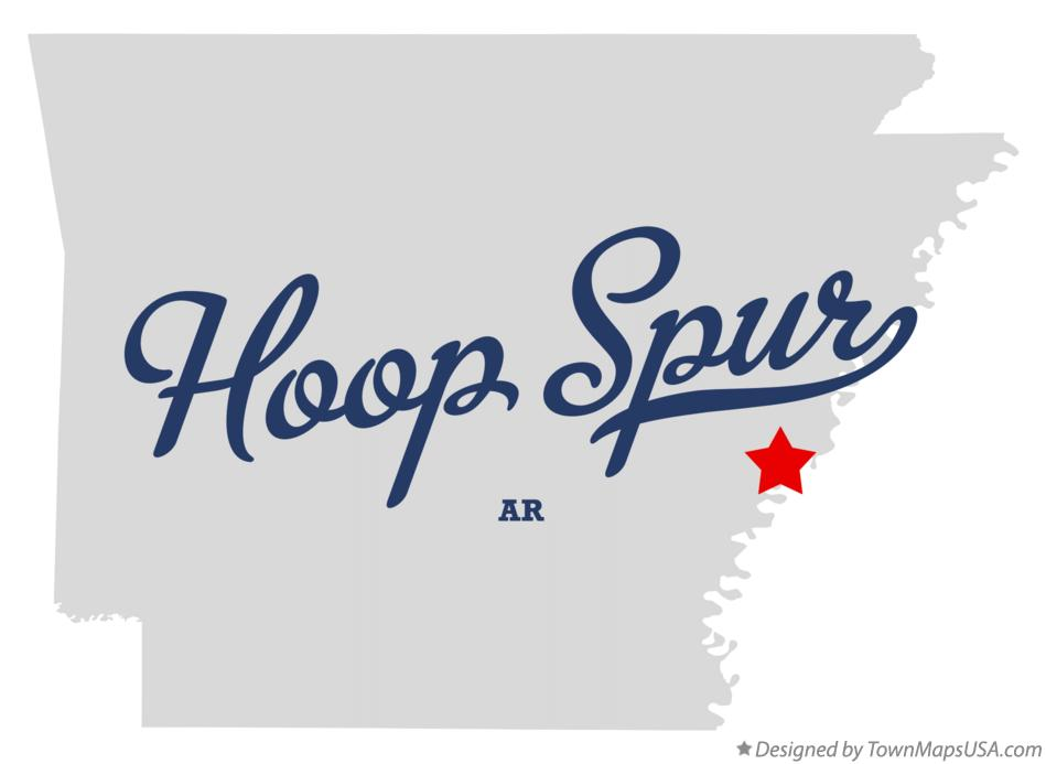 Map of Hoop Spur Arkansas AR
