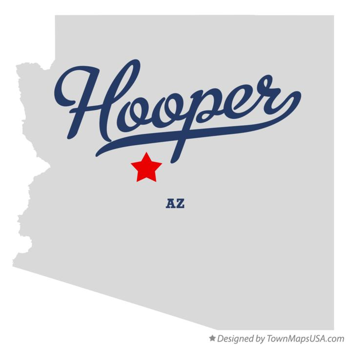 Map of Hooper Arizona AZ