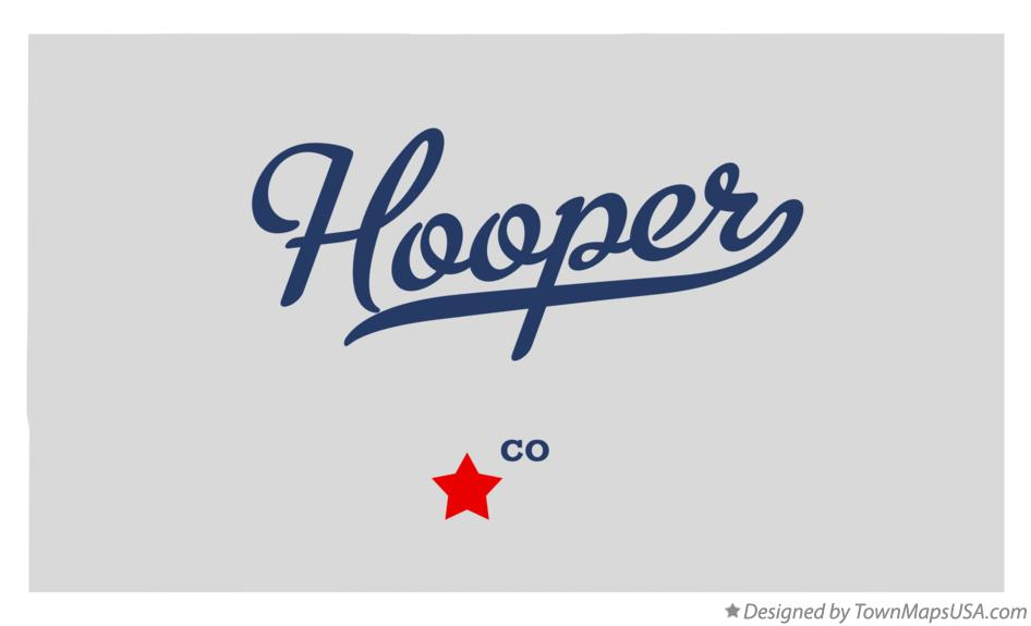 Map of Hooper Colorado CO
