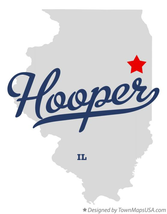 Map of Hooper Illinois IL