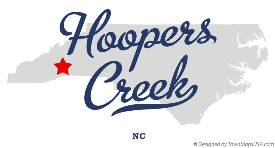 Map of Hoopers Creek North Carolina NC