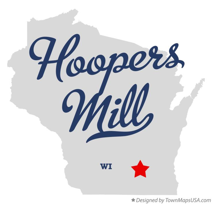 Map of Hoopers Mill Wisconsin WI