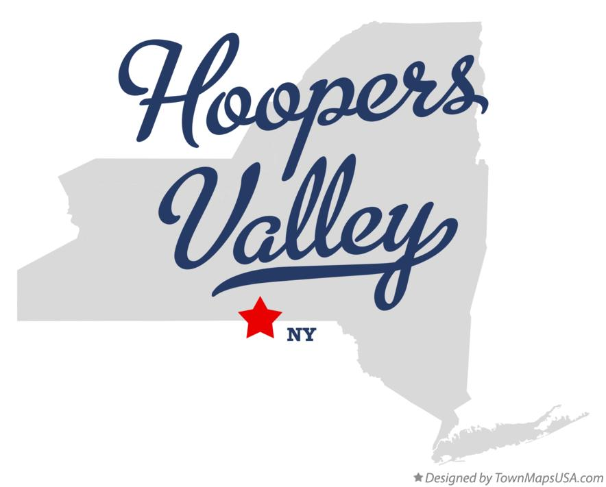 Map of Hoopers Valley New York NY