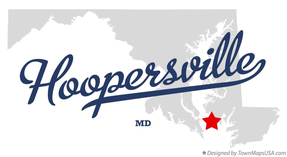 Map of Hoopersville Maryland MD