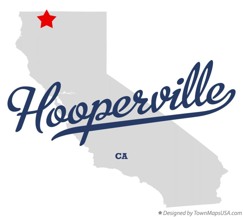 Map of Hooperville California CA