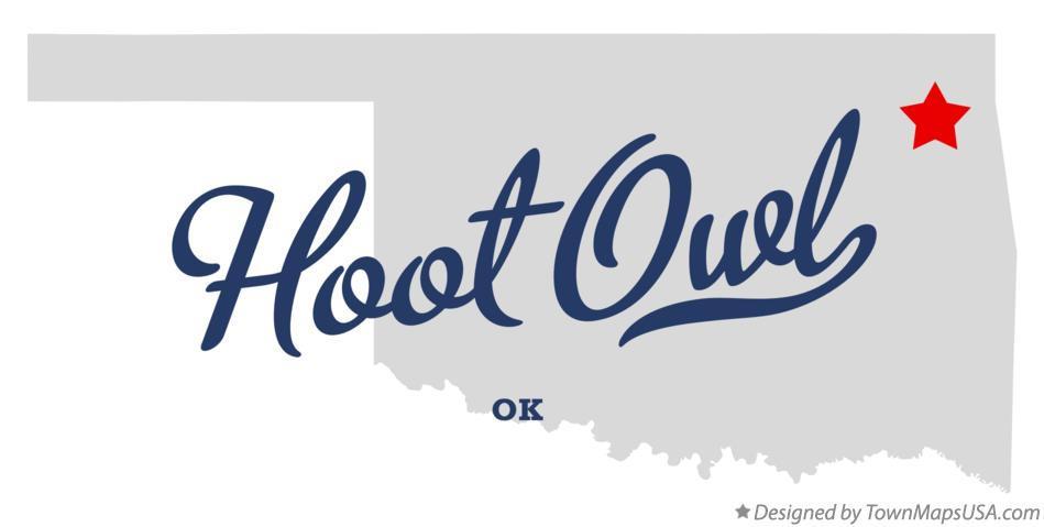 Map of Hoot Owl Oklahoma OK
