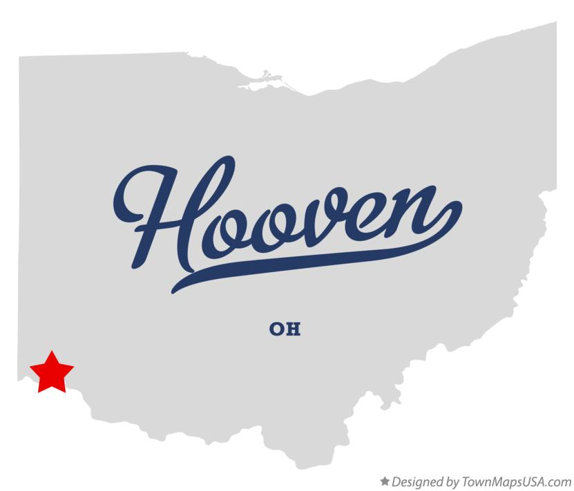 Map of Hooven Ohio OH