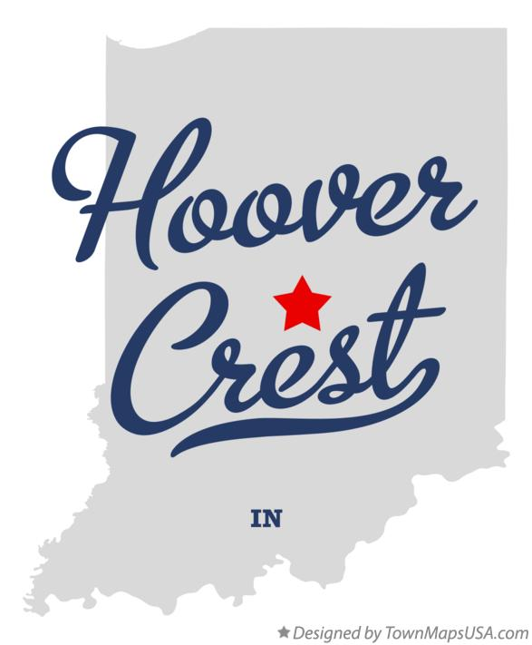 Map of Hoover Crest Indiana IN