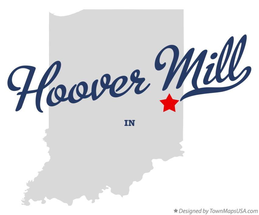 Map of Hoover Mill Indiana IN