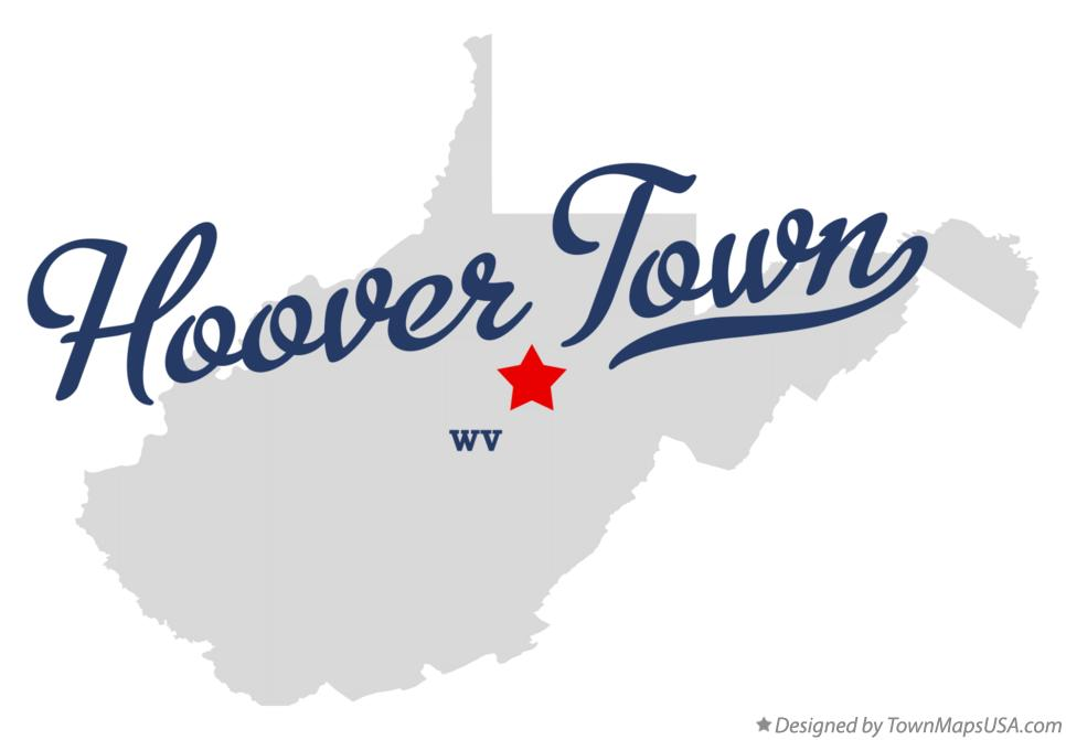 Map of Hoover Town West Virginia WV