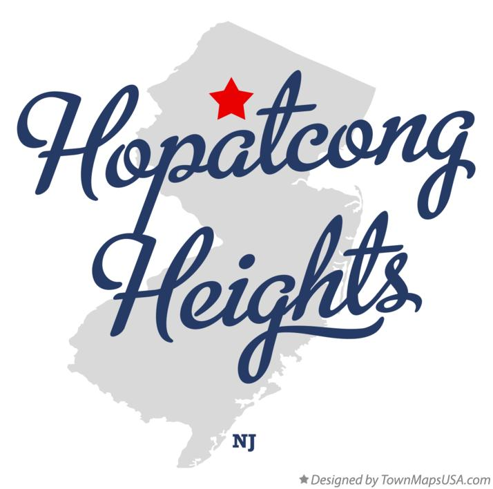 Map of Hopatcong Heights New Jersey NJ