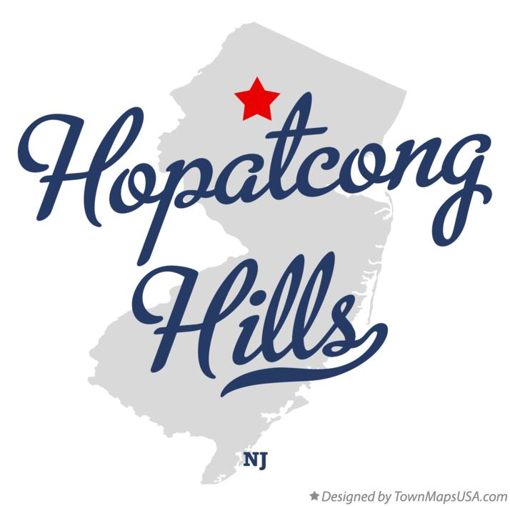 Map of Hopatcong Hills New Jersey NJ