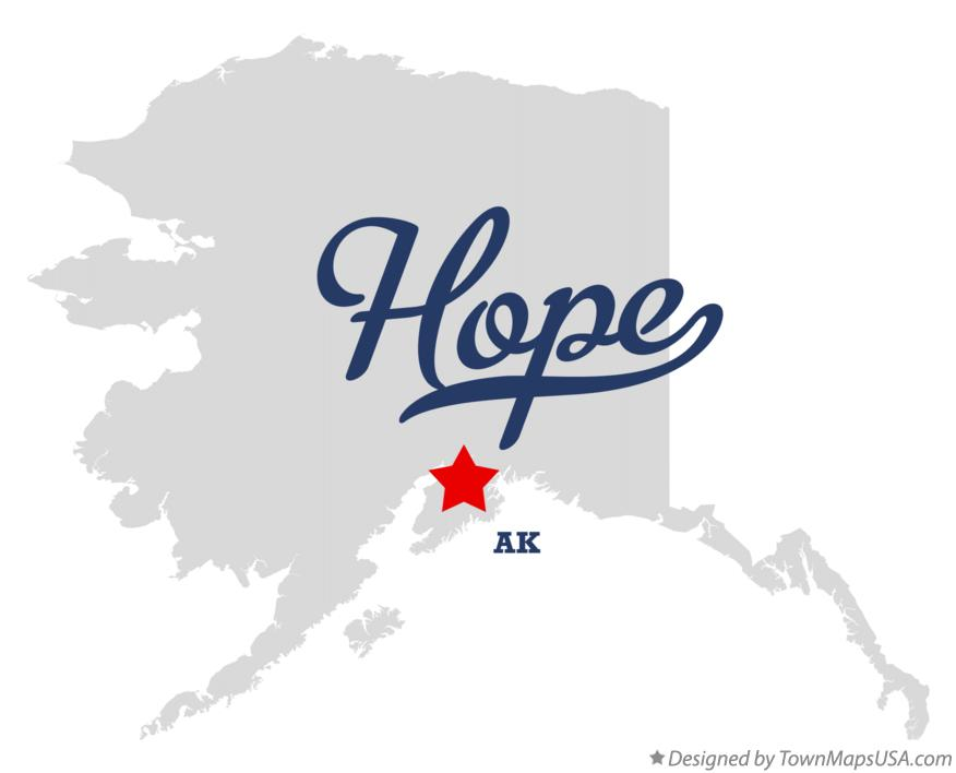 Map of Hope Alaska AK