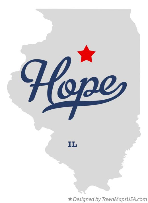 Map of Hope Illinois IL