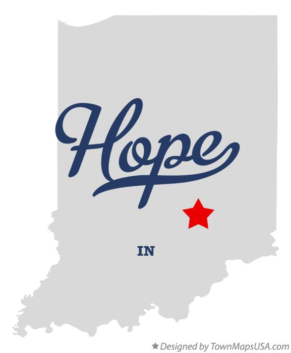 Map of Hope Indiana IN