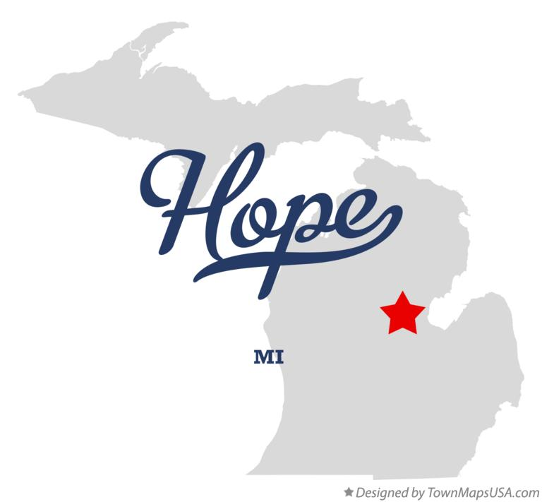 Map of Hope Michigan MI