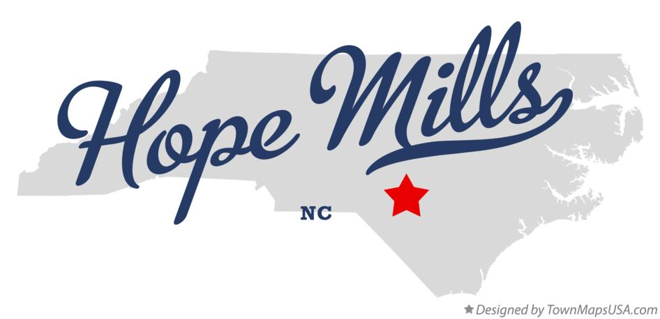 Map of Hope Mills North Carolina NC
