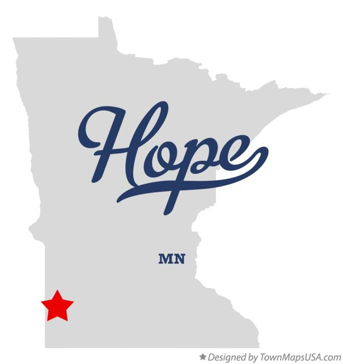 Map of Hope Minnesota MN