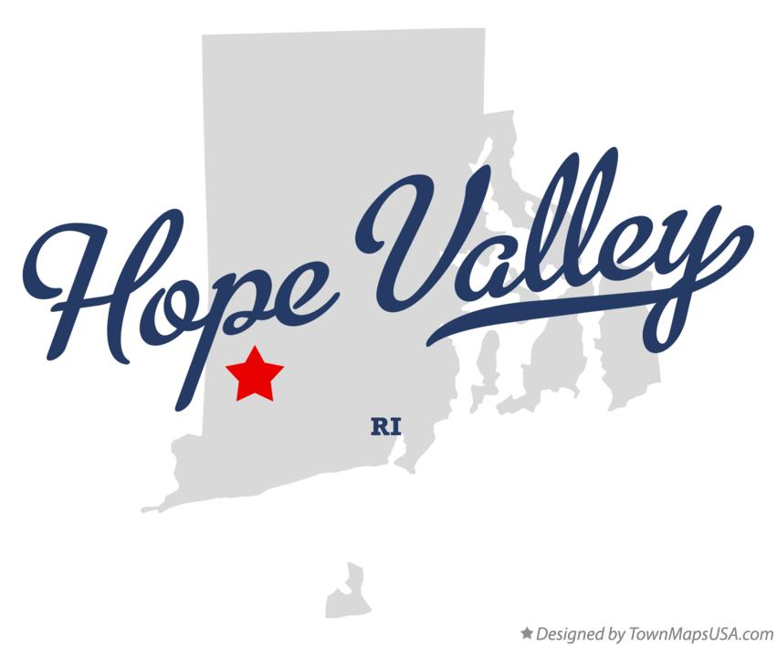 Map of Hope Valley Rhode Island RI