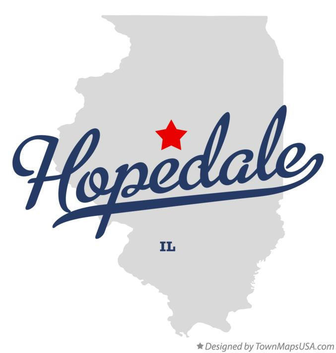 Map of Hopedale Illinois IL