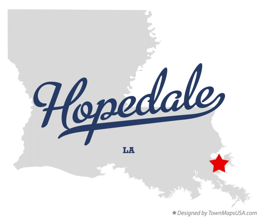 Map of Hopedale Louisiana LA