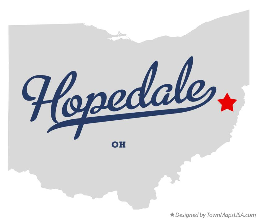 Map of Hopedale Ohio OH