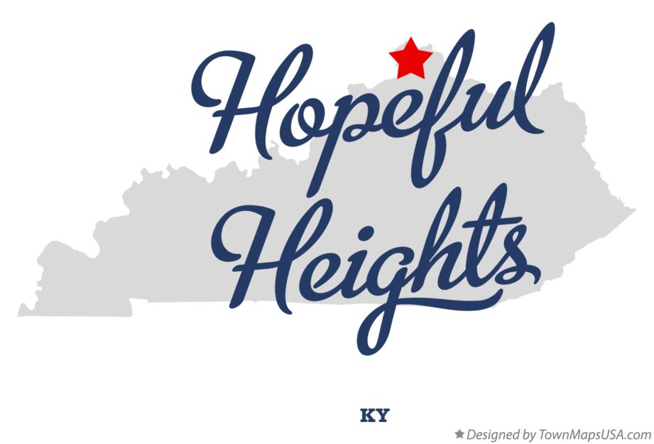 Map of Hopeful Heights Kentucky KY