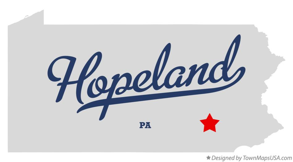 Map of Hopeland Pennsylvania PA