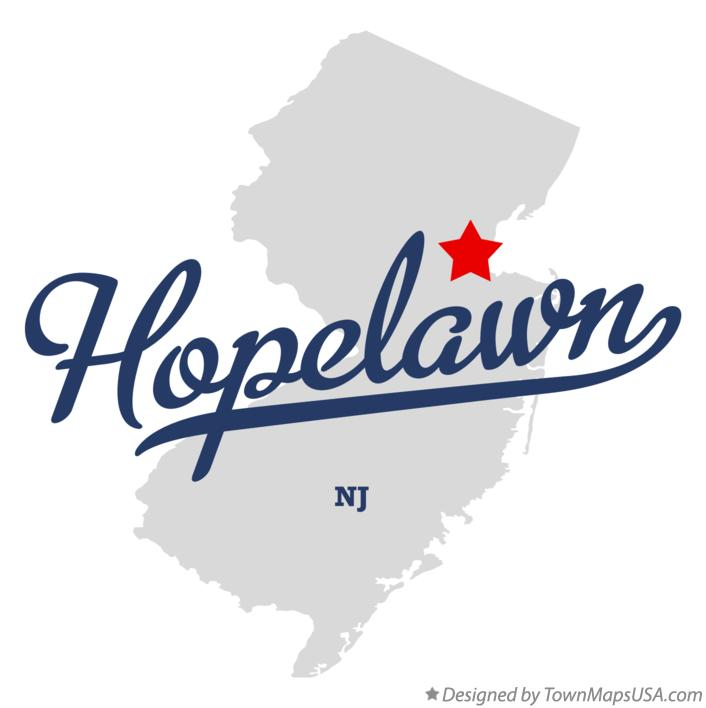 Map of Hopelawn New Jersey NJ