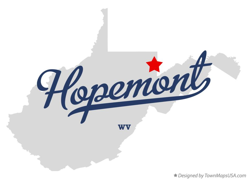 Map of Hopemont West Virginia WV