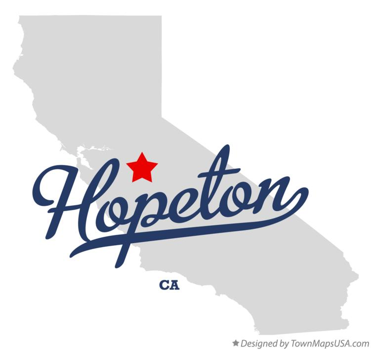 Map of Hopeton California CA