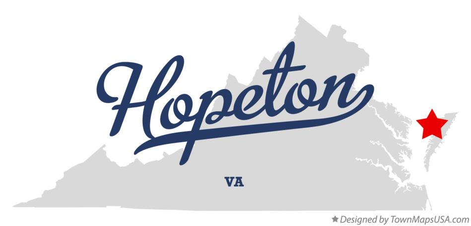 Map of Hopeton Virginia VA