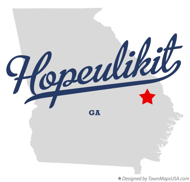 Map of Hopeulikit Georgia GA