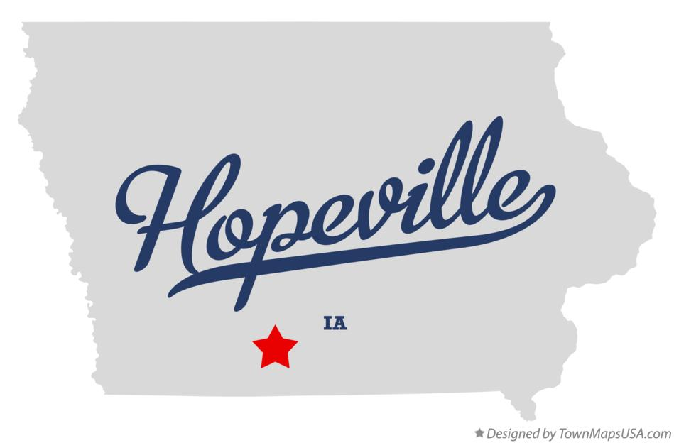 Map of Hopeville Iowa IA