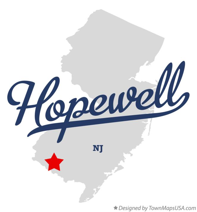Map of Hopewell New Jersey NJ
