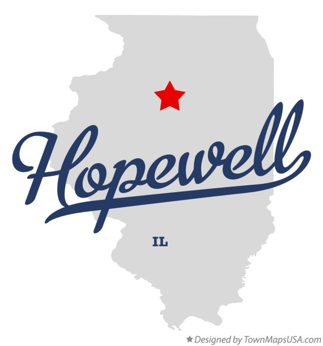Map of Hopewell Illinois IL
