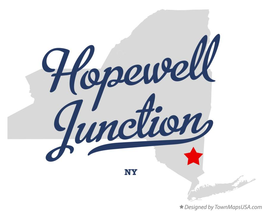 Map of Hopewell Junction New York NY