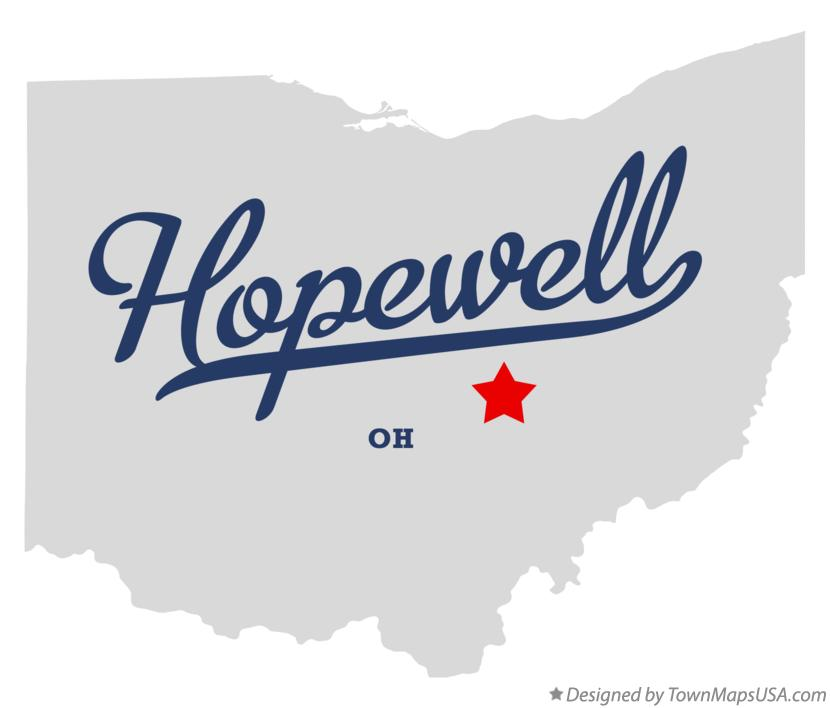Map of Hopewell Ohio OH